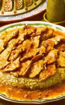 Escalopes con Arroz